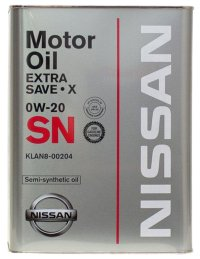 Моторное масло Nissan Strong Save X 0W20 SN, 4л / KLAN7-00204