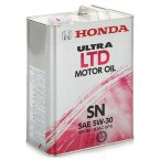 Моторное масло Honda Ultra LTD Motor Oil 5W30 SN, 4л / 0821899974